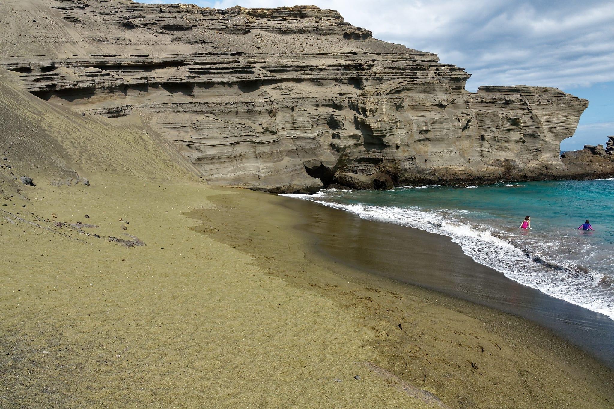 green sand beach, une toute petite plage bien abritée