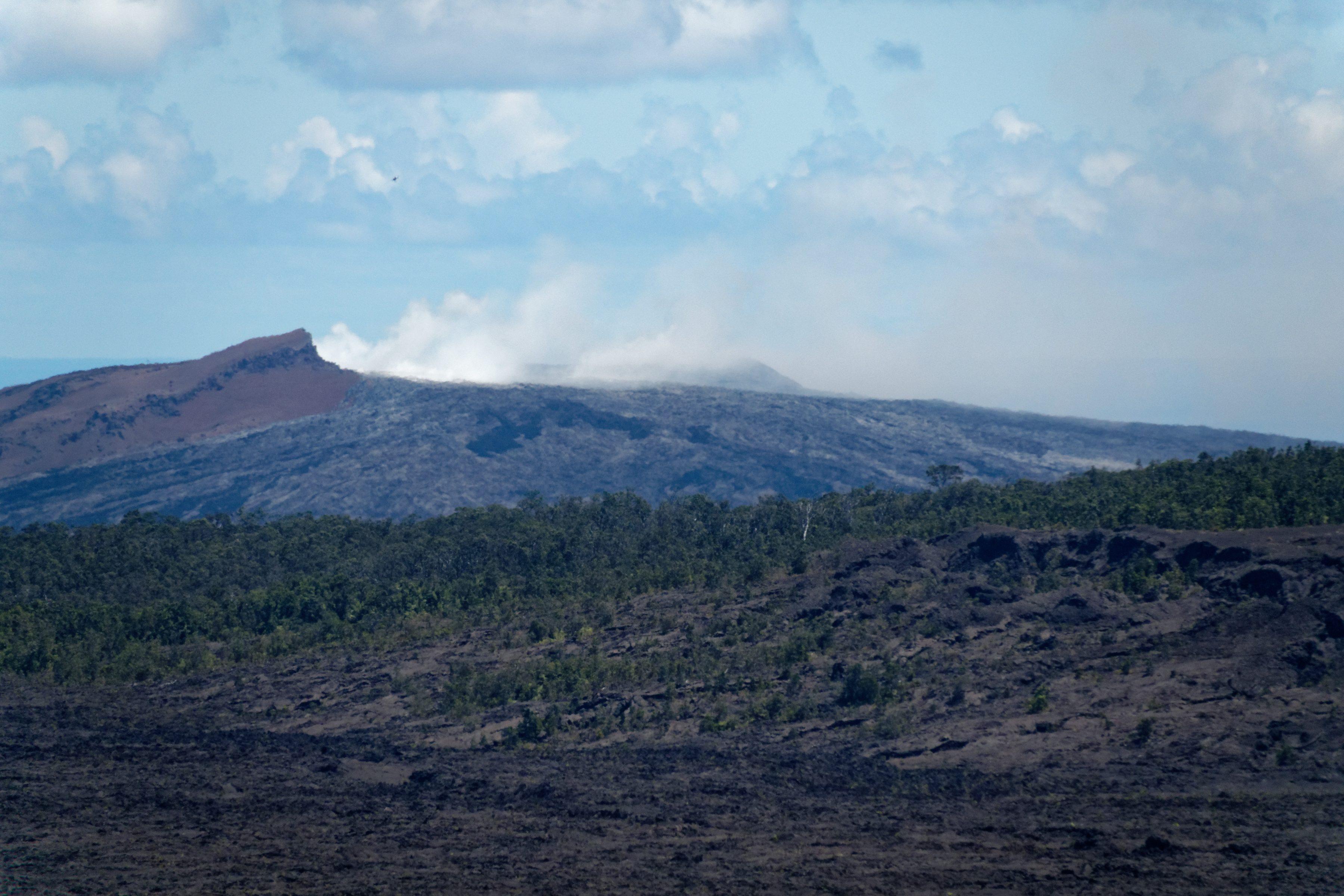 Puʻu ʻŌʻō, en éruption depuis 1983
