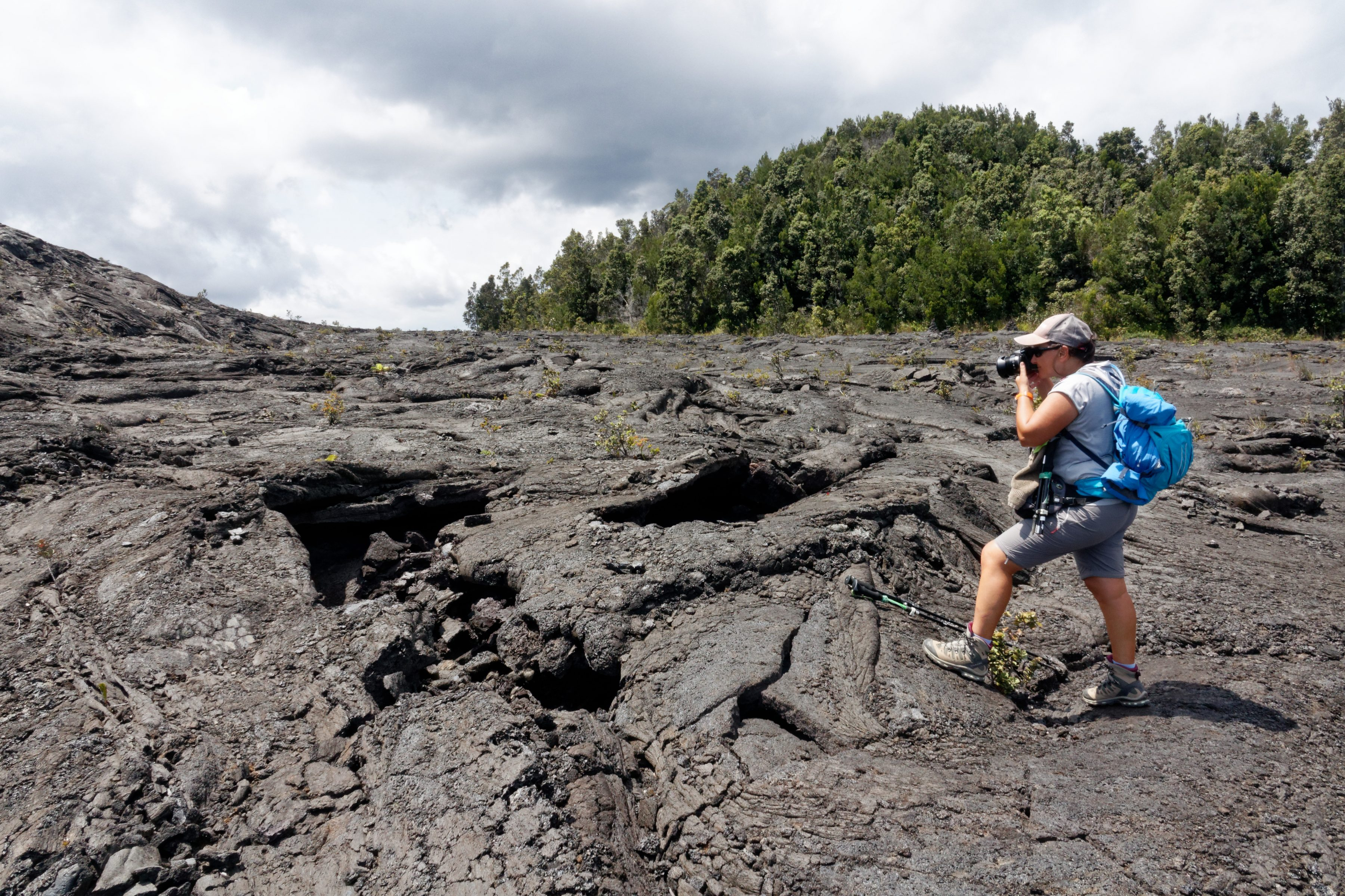 Le Pu'u Huluhulu à partir du sentier vers le Mauna Ulu
