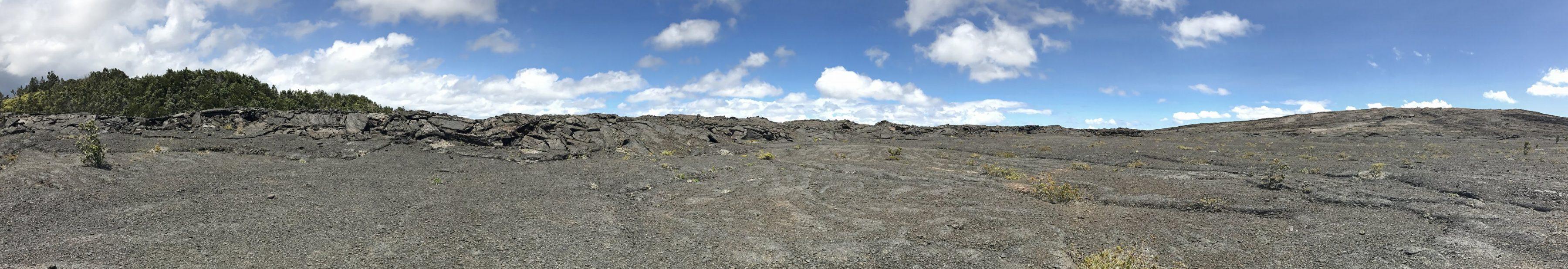 Le paysage inhospitalier entre Pu'U Huluhulu et Mauna Ulu