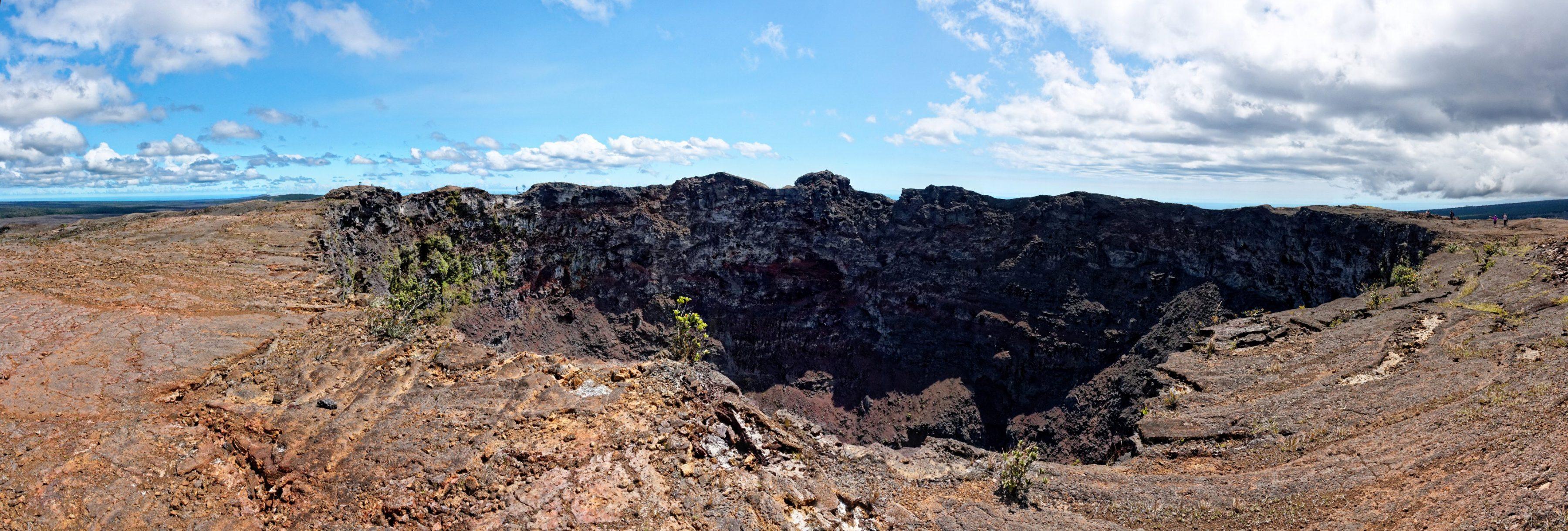 Le cratère du Mauna Ulu