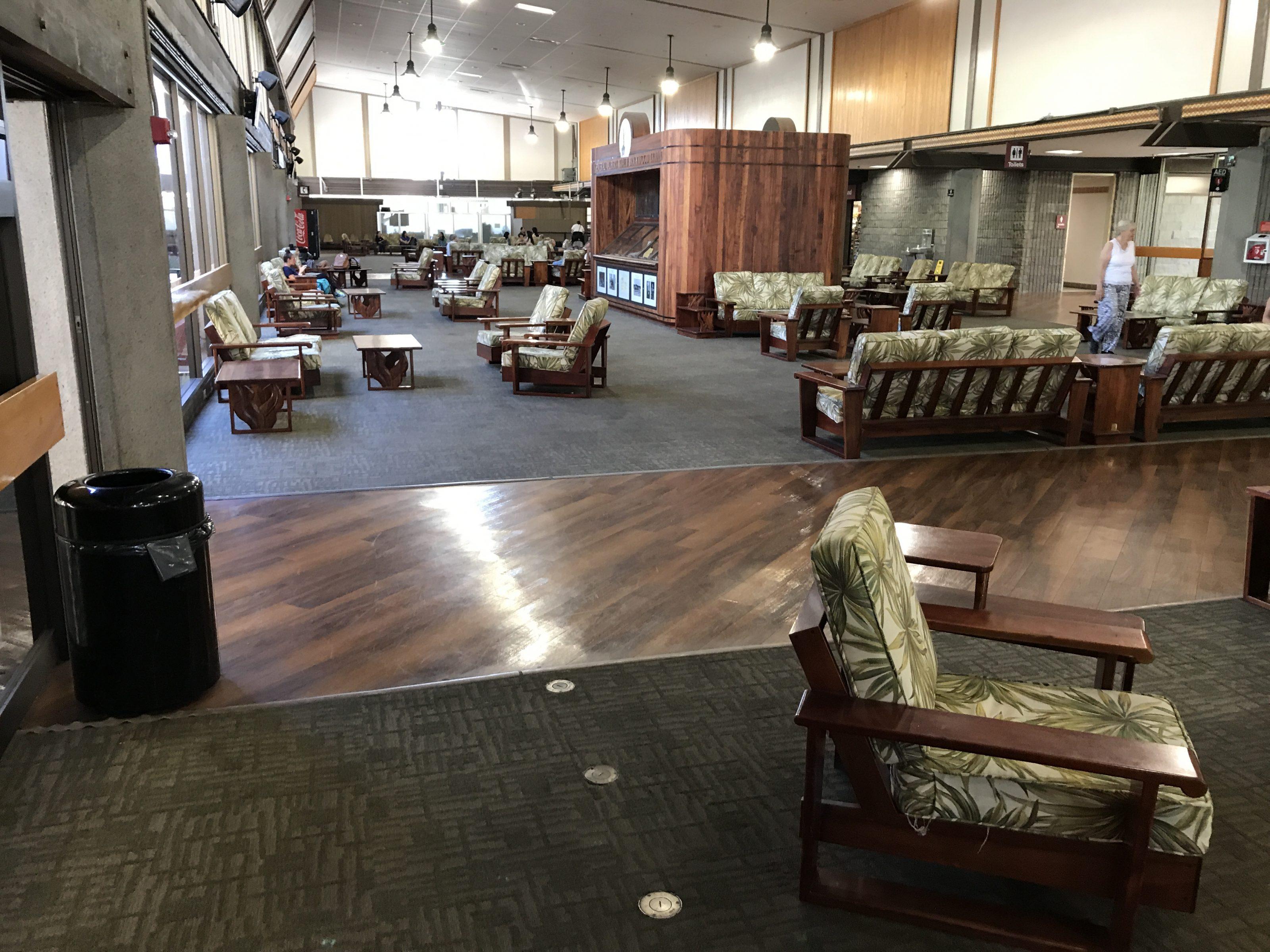 Salle d'attente de l'aéroport de Hilo