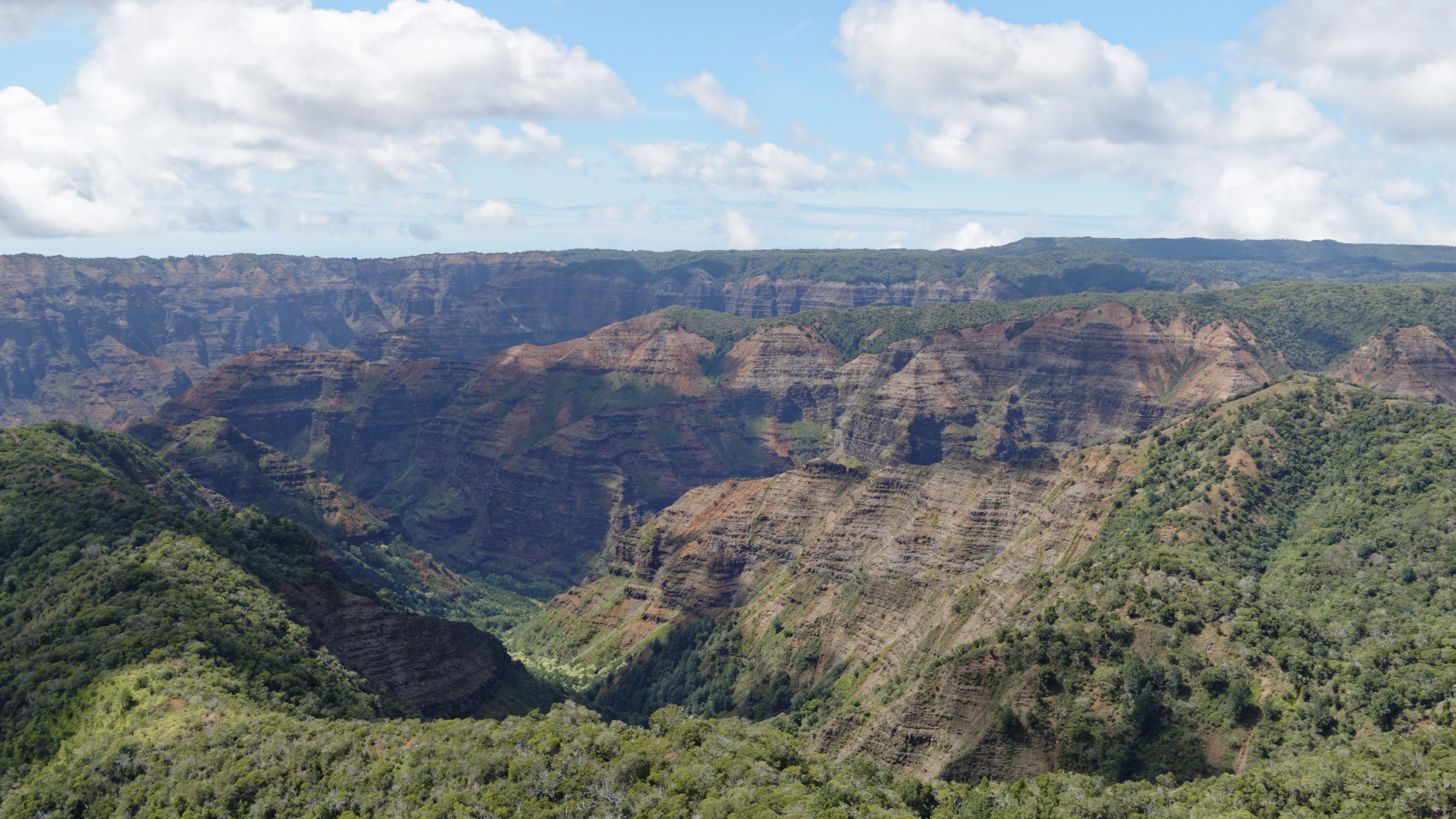 Waimea Canyon vu du ciel
