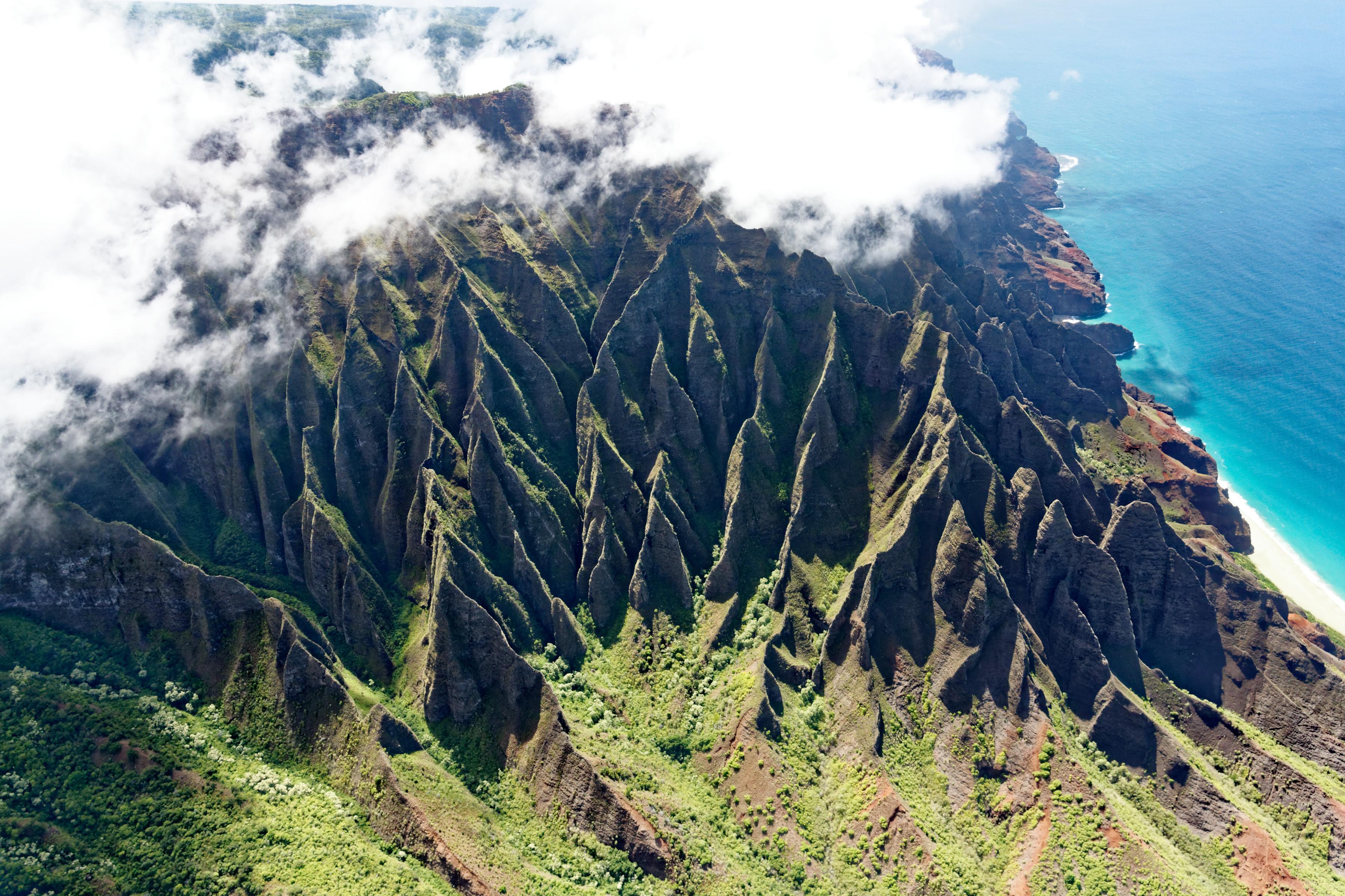 Les arrêtes de la Na Pali coast