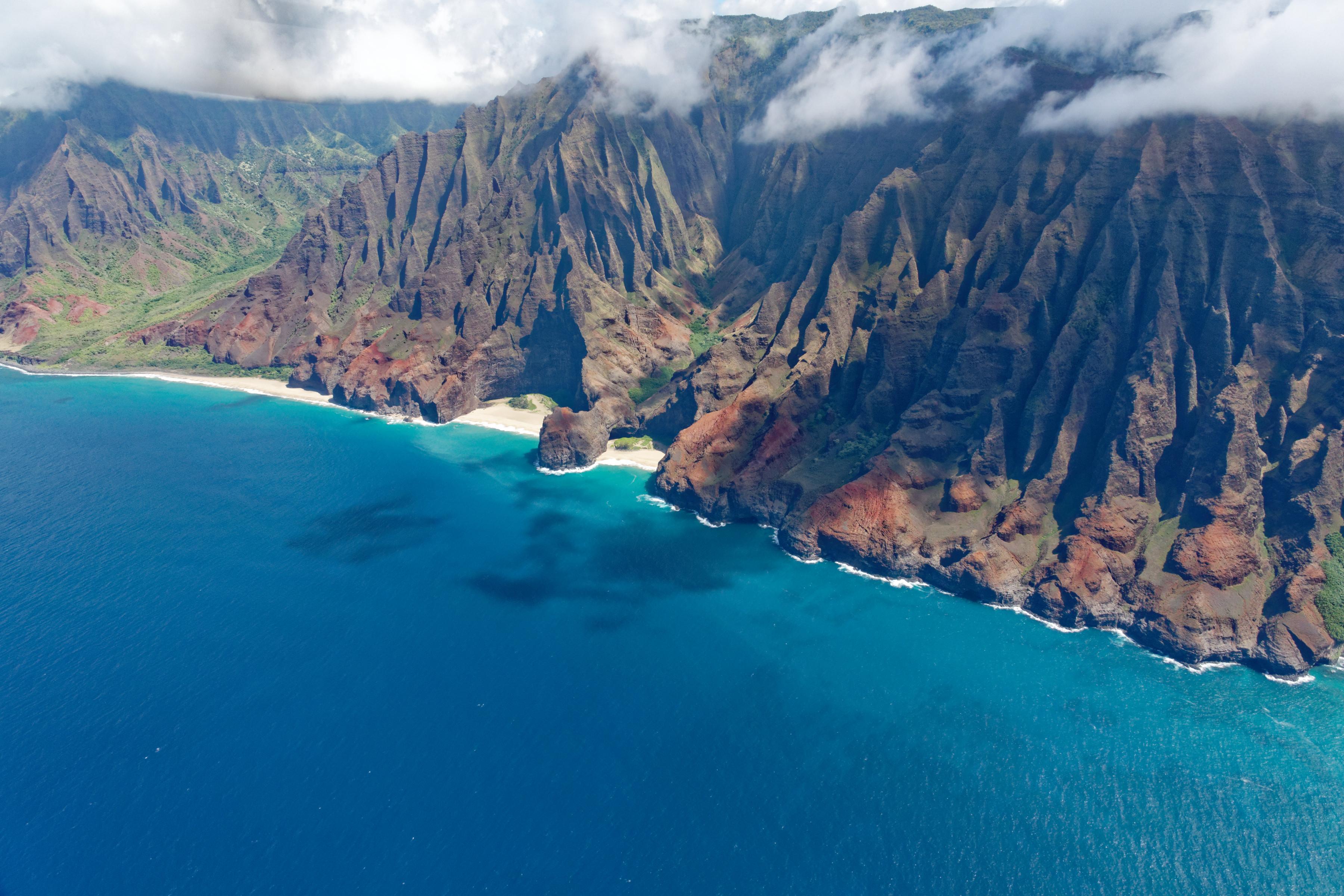 Une vue de la Na Pali coast vue du ciel