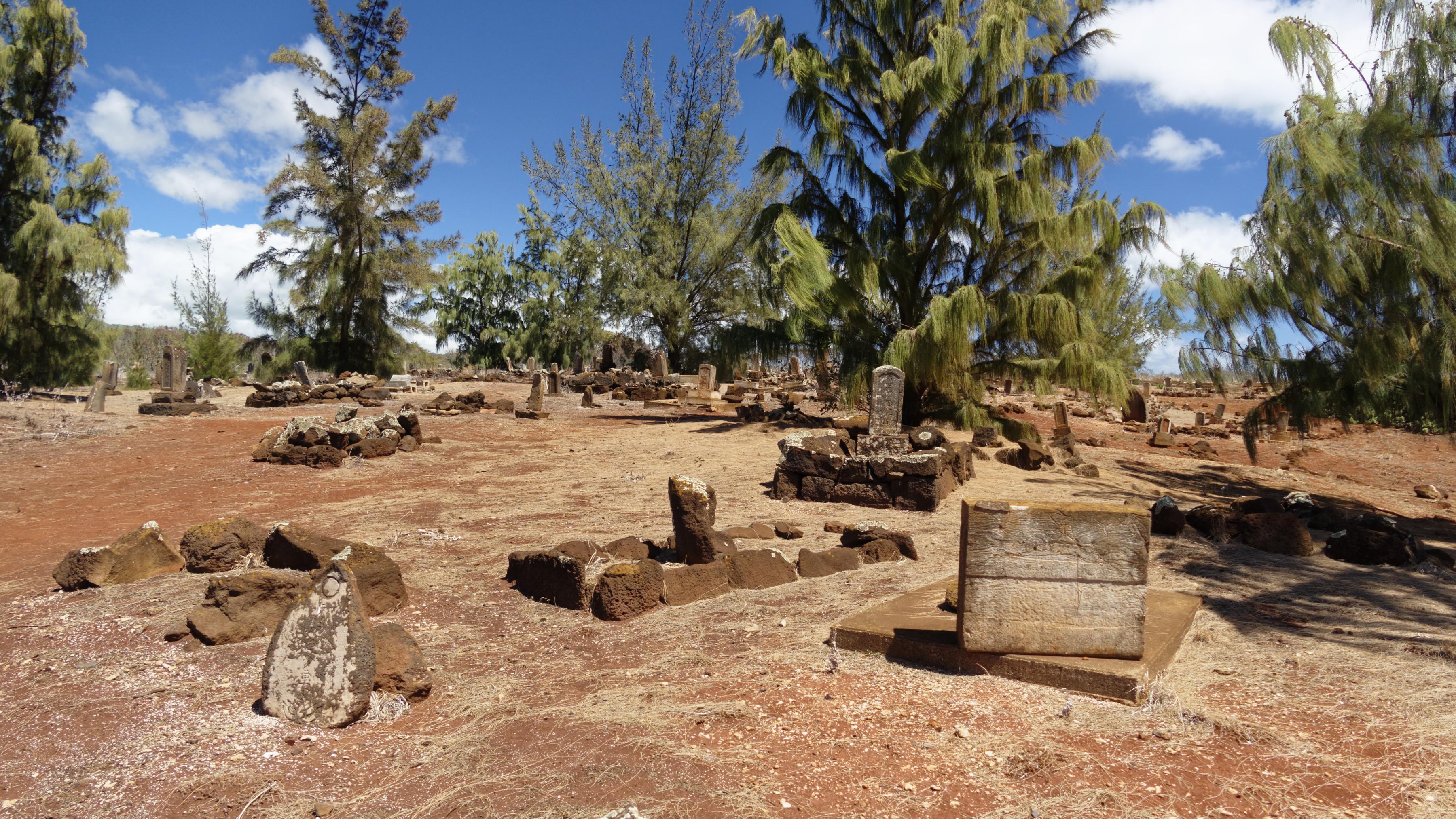 Le cimetière asiatique près de Port Allen