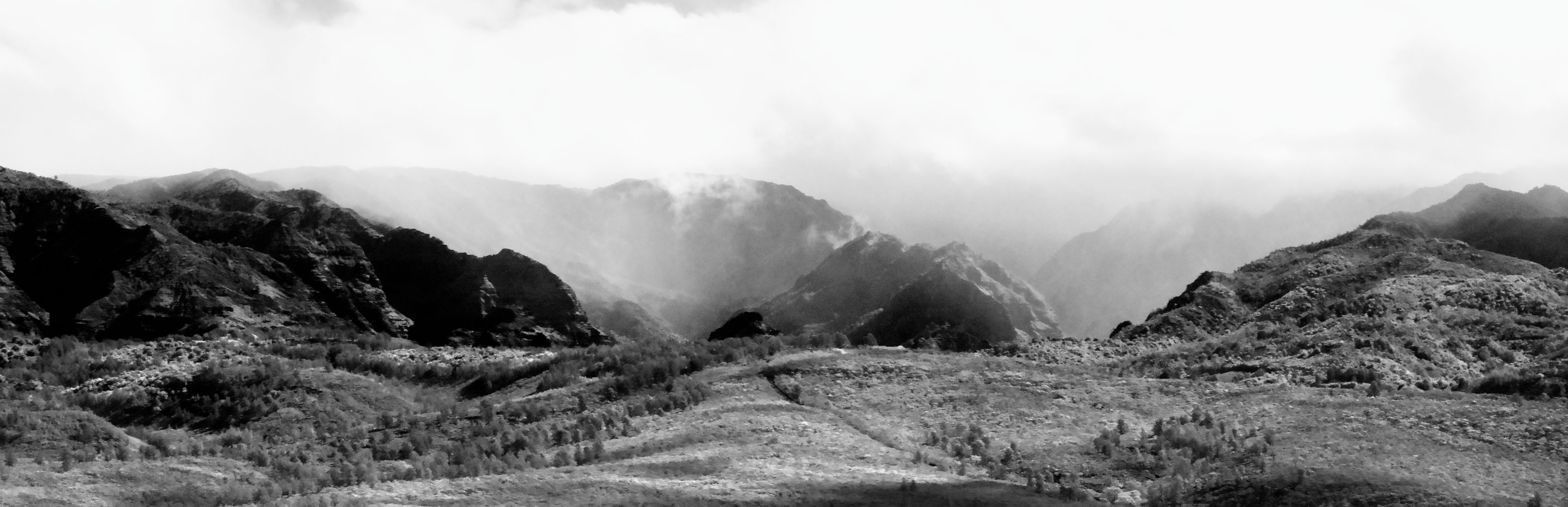Waimea Canyon, en noir et blanc